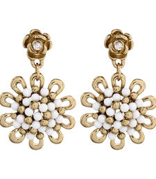 Buy Gold Plated Flower Dangle Small Earring danglers-drop online