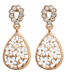 Buy Flower Small Dangle White Earring danglers-drop online