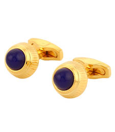 Buy BLISS Collection Royal Blue Gold Plated Luxury Shirt Accessory Cufflinks For Men gifts-for-him online