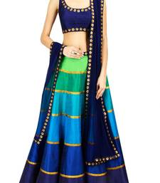 Buy Multi Color Georgette Semi-Stitched ghagra Choli ghagra-choli online