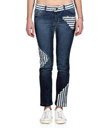 Buy Indie Jeans WHITE SAND Slim Blue Stretchable Denim Jeans western-wear online