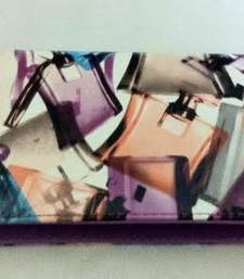 Buy Zippered violet perfume print wallet clutch clutch online