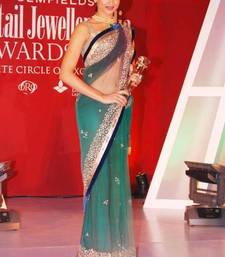 Deepika stylish rama green saree shop online