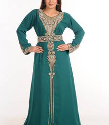 Buy Green georgette embroidered abaya abaya online