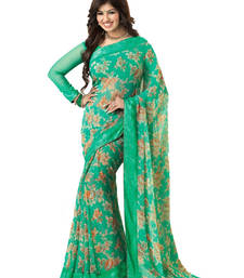 Buy light_blue printed georgette saree With Blouse ayesha-takia-saree online