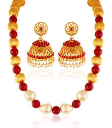 Buy Enriched Gold plated contemporary set necklace-set online
