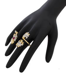 Gold plated beautiful classic ring shop online