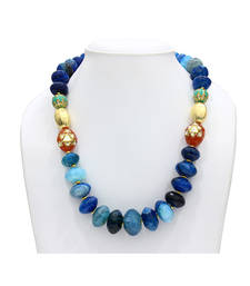 Buy Tapering Blue necklace party-jewellery online