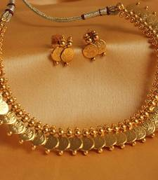 Buy BEAUTIFUL GOLD TONE COIN NECKLACE SET necklace-set online
