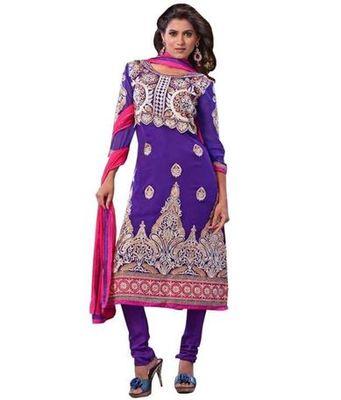 Kalazone Pink Blue Georgette Anarkali Suit: D7141/S3