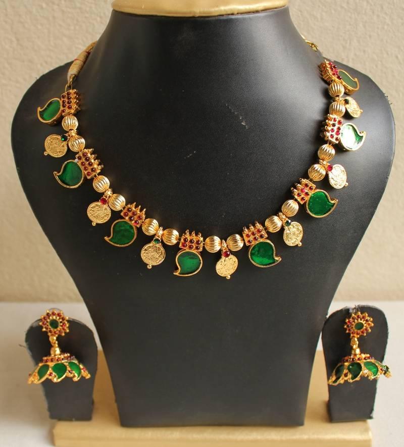 Buy Gorgeous Kerala Style Palakka Necklace Set Dj04032 Online