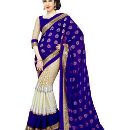 Buy Karishma Kapoor Blue Georgette Saree With Blouse georgette-saree online