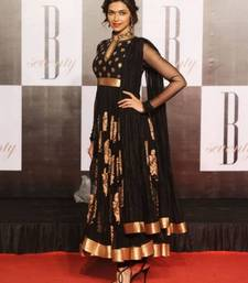 Buy Deepika padukone in black Bollywood Suit bollywood-salwar-kameez-online online