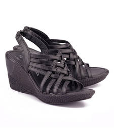 Buy Black genuine leather footwear footwear online