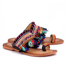 Buy Multicolor genuine leather footwear footwear online