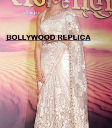 Buy Bollywood Replica Deepika Padukone Ram Leela Net Heavy work Saree deepika-padukone-saree online