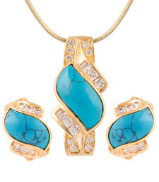 Buy TURQUOISE PENDANT SET eid-jewellery online