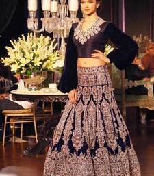 Buy Deepika Padukone Bollywood blue lehenga bollywood-lehenga online