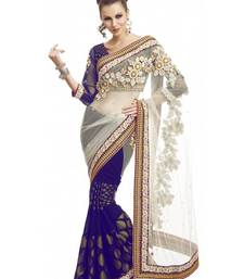 Buy Bollywood Stylis Half Half Viscos Saree viscose-saree online
