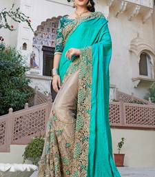 Buy multicolor embroidered georgette saree With Blouse eid-saree online