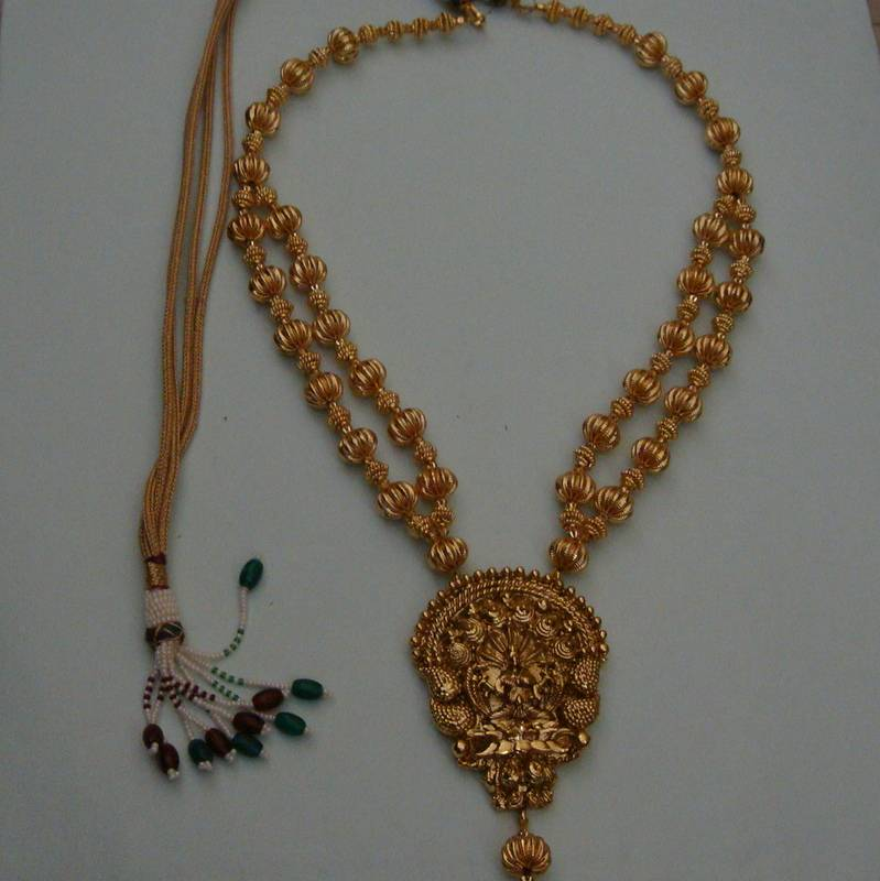 Laxmi necklace - 158 (temple jewellery) by Radha's Creations - buy ...
