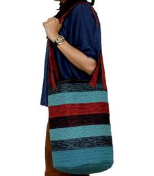 Buy Multicolor Handwoven Grocery Bag tote-bag online