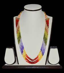 Buy Multicolor stones necklace collar-necklace online