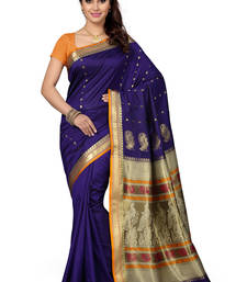 Buy multicolor woven silk saree With Blouse silk-saree online