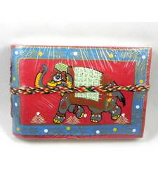 Buy Handmade Elephant Print Red color Dairy stationery online