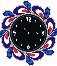 Buy Black morpich designer wooden wall clock new-year-gift online