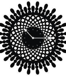 Buy Black designer wooden wall clock new-year-gift online