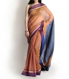 Buy Supernet cotton zari contrast saree supernet-saree online