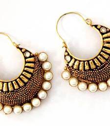 Buy ANTIQUE GOLD PLATED WHITE STONE BALI Other online