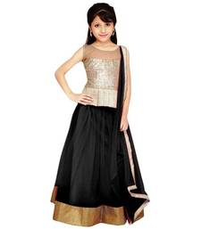 Buy black jacquard kids lehenga choli kids-lehenga-choli online