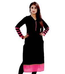 Buy black cotton stiched kutis kurtis-below-300 online