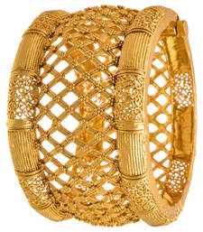 Buy JFL - Traditional, Ethnic & Antique One Gram Gold Plated Openable Kada with Jali Work for Women & Girls  bangles-and-bracelet online