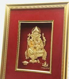 Buy Gold Foil Frame Of Ganesh housewarming-gift online