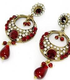 Buy Elegant Victorian Danglers Blood Red danglers-drop online