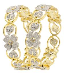 Buy Bangle Gold Plated with American Diamonds for Women  and  Girls bangles-and-bracelet online