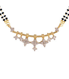 Buy White gold plated mangalsutra mangalsutra online