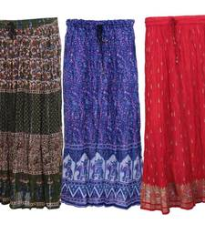 Buy jaipuri cotton skirts- pack of 3 skirt online