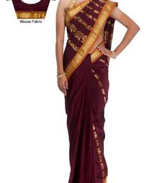 Buy Traditional Maroon Art Silk Designer Saree PSC040A  art-silk-saree online