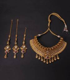 Buy Design no. 8 b.1260....Rs. 5550. necklace-set online