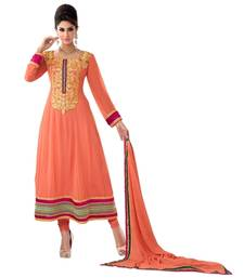 Buy Triveni Above ankle-length embroidered Salwar Kameez 16685 dress-material online