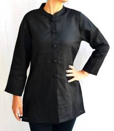 Buy Black Linen Kurti other-apparel online