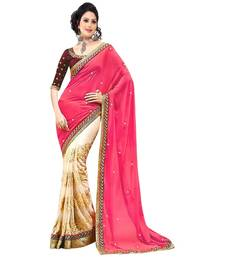 Buy multicolor embroidered georgette saree With Blouse rakhi-gifts-for-sister online