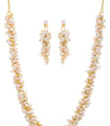 Buy REAL PEARLS NECKLACE SET FROM HYDERABAD(LOOSER SET) Necklace online