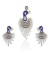 Buy Gold Plated Peacock Pendant Set For Women Pendant online