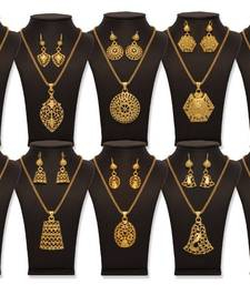 Buy  Vendee Fashion  Super Gold Attractive combo set 849 Pendant online
