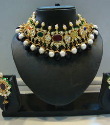 Buy Design no. 8 b.1184....Rs. 8900 necklace-set online